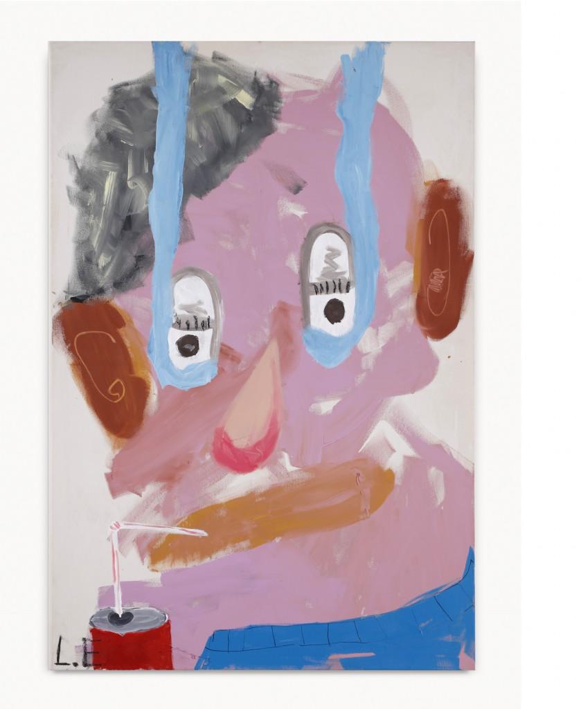 Nach Oben Weinen, 2015, oil on canvas, 150x 100 cm