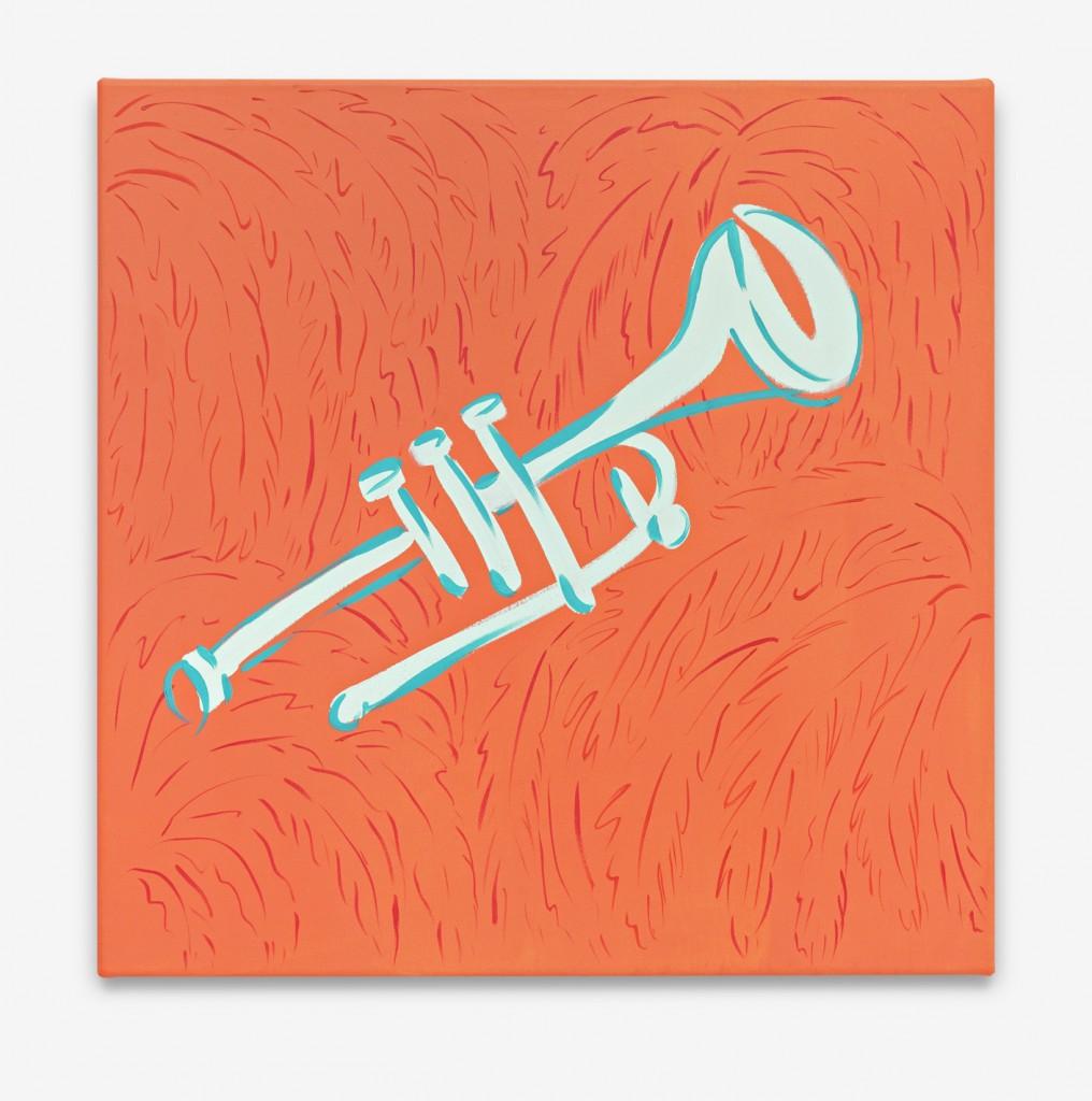 Trompeta, Oil on canvas 56 x 56 cm, 2014