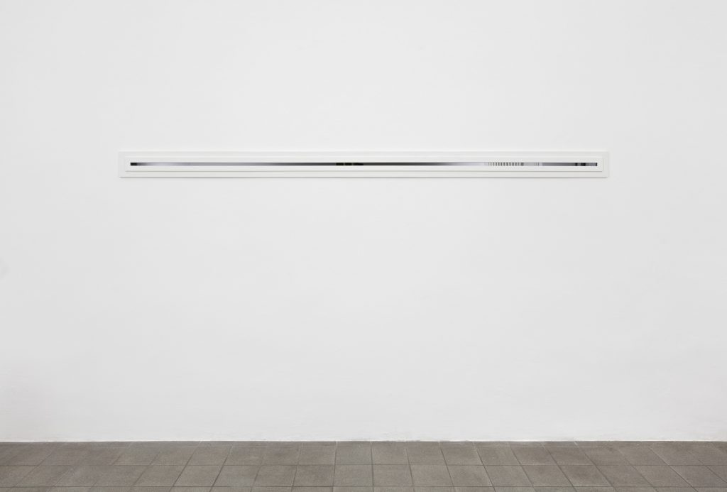 Nicholas Pittman  Window (horizontal) 2016  wood, casein, plexiglass  290 x 15 cm