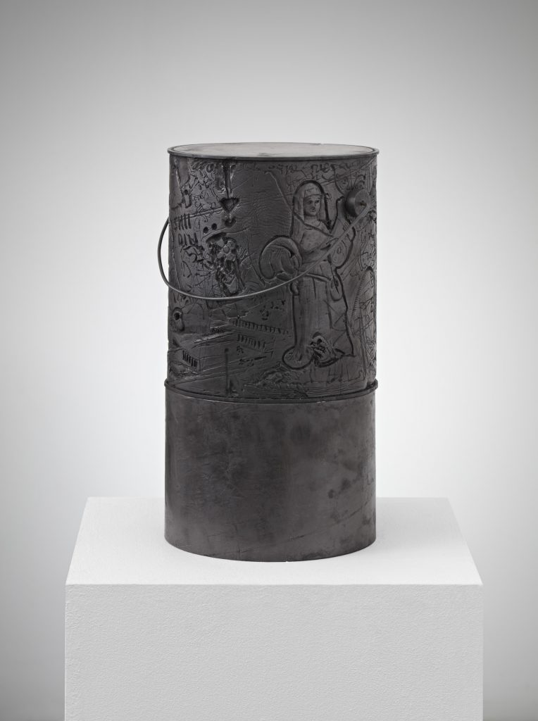 Lukas Geronimas  Custom Paint Can 2016  plaster, steel, graphite, cardboard  39 x 23 x 23 cm