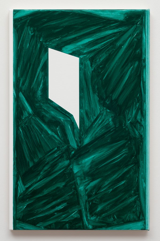 Robert Holyhead  Untitled (Sharp) 2015  oil on canvas  55,8 x 35,5 cm Courtesy Max Hetzler, Paris | Berlin